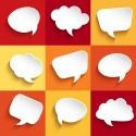 Set of speech bubbles. Vector illustration